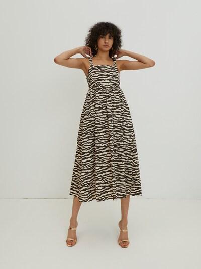EDITED Vestido 'Alena' en marrón / capuchino, Vista del modelo