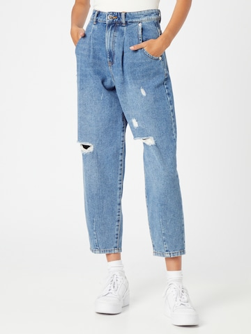 ONLY Bandplooi jeans 'Verna' in Blauw