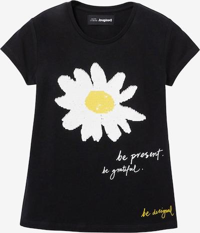 Desigual T-Shirt 'AMBERES' en jaune / noir / blanc, Vue avec produit