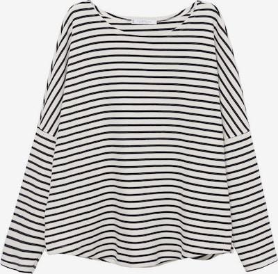 MANGO Shirt 'Home' in de kleur Donkerblauw / Wit, Productweergave