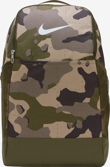 NIKE Sportrucksack in beige / dunkelgrau / khaki, Produktansicht