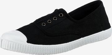VICTORIA Slip-Ons in Black