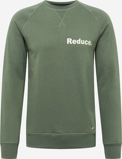 FAGUO Sweatshirt 'DARNEY' in khaki / weiß, Produktansicht