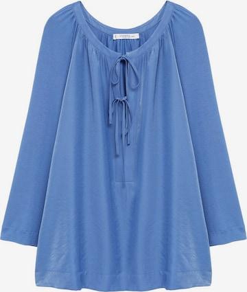 MANGO Bluse 'Pik' in Blau