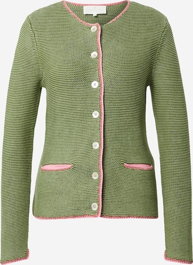 LIEBLINGSSTÜCK Knitted costume cardigan in Olive / Pink, Item view