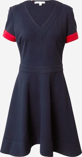TOMMY HILFIGER Jurk 'Fit&Flare' in de kleur Donkerblauw / Rood, Productweergave