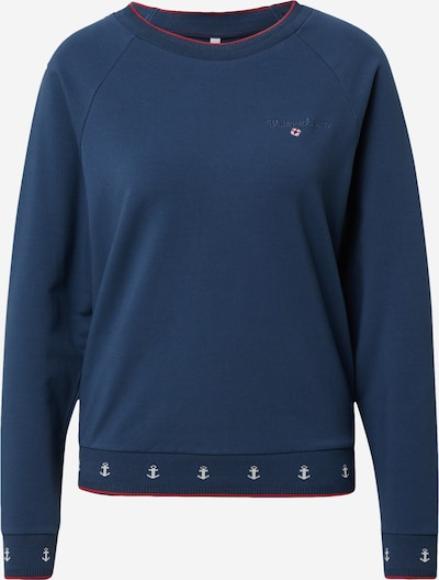 Blutsgeschwister Sweatshirt in de kleur Blauw / Cranberry / Wit, Productweergave