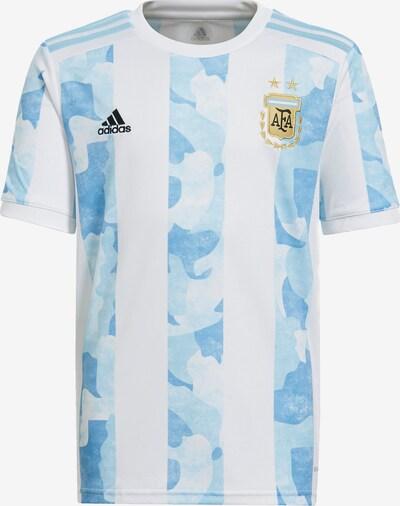 ADIDAS PERFORMANCE Trikot 'Argentinien' in hellblau / zitrone / rauchgrau / schwarz / weiß, Produktansicht