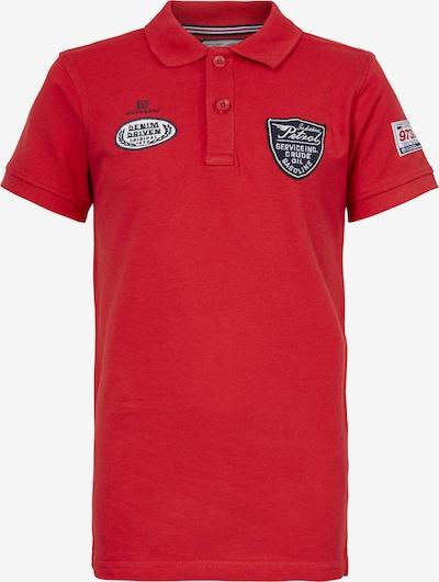 Petrol Industries Poloshirt in navy / rot / weiß, Produktansicht