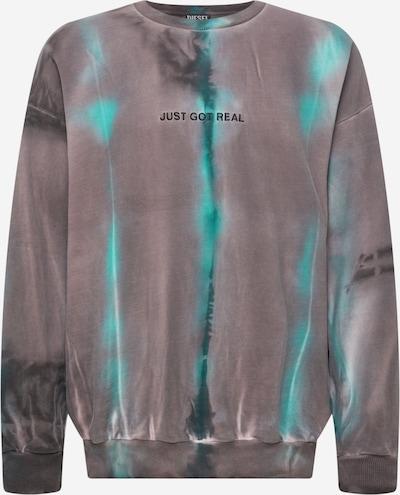 DIESEL Sweatshirt 'MART' in dunkelgrau / jade / rosa, Produktansicht