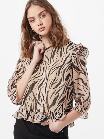 ONLY Bluzka 'LADY' w kolorze jasny beż / czarnym, Podgląd na modelu(-ce)