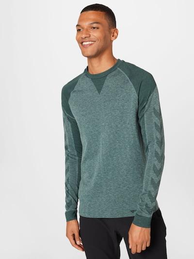 Hummel Shirt 'Kent' in dunkelgrün / grünmeliert: Frontalansicht