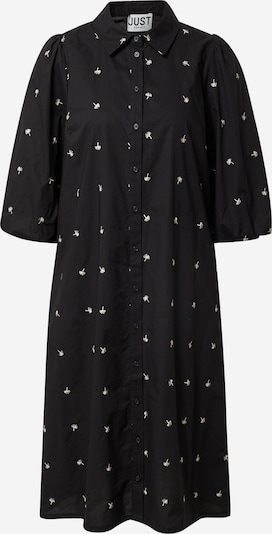 JUST FEMALE Košulja haljina 'Lida' u bež / crna, Pregled proizvoda