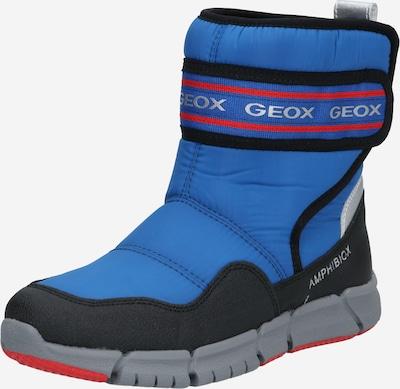 GEOX Snowboots in de kleur Blauw / Rood / Zwart / Zilver, Productweergave