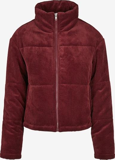 Urban Classics Jacke 'Corduroy Puffer Jacket' in burgunder, Produktansicht
