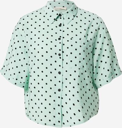 24COLOURS Blusa en jade / negro, Vista del producto
