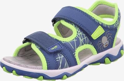 SUPERFIT Chaussures ouvertes 'Mike 3.0' en bleu ciel / gris / citron vert / rouge, Vue avec produit
