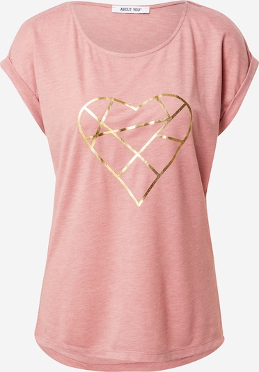 ABOUT YOU T-shirt 'Astrid' i guld / rosa, Produktvy