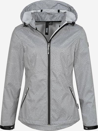 LPO Softshelljacke 'Ira' in grau / schwarz / weiß, Produktansicht