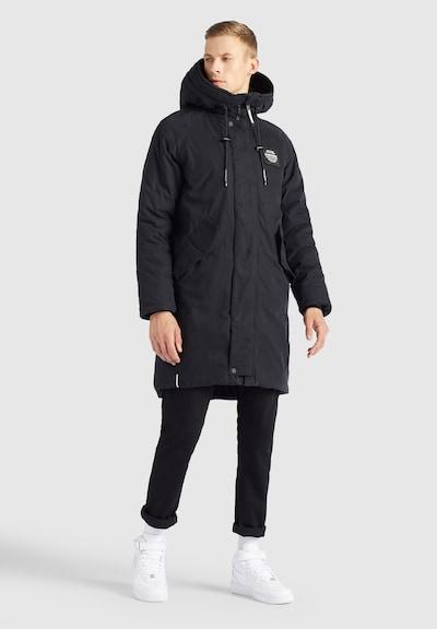 Palton de iarnă ' HOOK2 ' khujo pe negru / alb, Vizualizare model