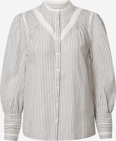 Maison 123 Bluse 'JOHANA' in anthrazit / weiß, Produktansicht