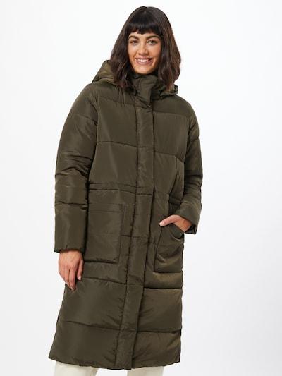 basic apparel Vinterfrakke 'Dagmar' i khaki, Modelvisning