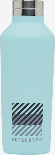 Superdry Drinkfles in de kleur Pastelblauw / Zwart / Zilver, Productweergave