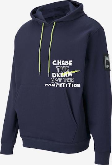 PUMA Sweat de sport 'Franchise' en bleu marine / bleu foncé, Vue avec produit