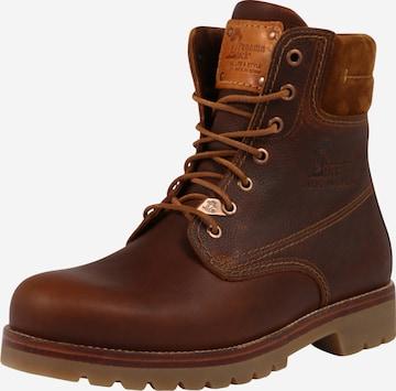 PANAMA JACK Boots med snörning 'Panama' i brun