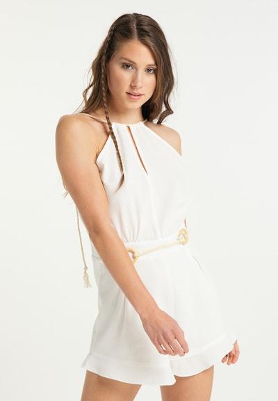 IZIA Jumpsuit in de kleur Wit, Modelweergave