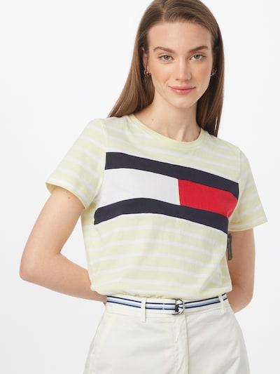 TOMMY HILFIGER Тениска в нейви синьо / светложълто / червено / бяло: Изглед отпред
