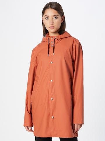 Stutterheim Between-seasons coat 'Stockholm' in Orange