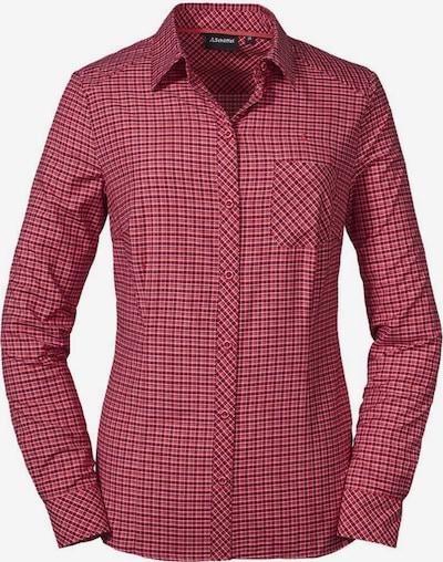 Schöffel Bluse 'Colfosco' in rot, Produktansicht