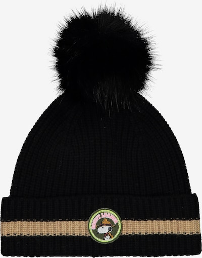CODELLO Mütze 'PEANUTS' in beige / schwarz, Produktansicht