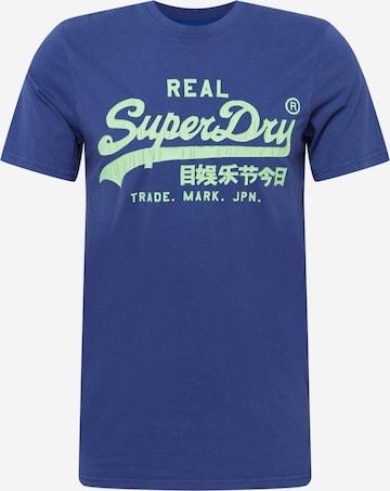 Superdry Skjorte 'American Classic' i blå