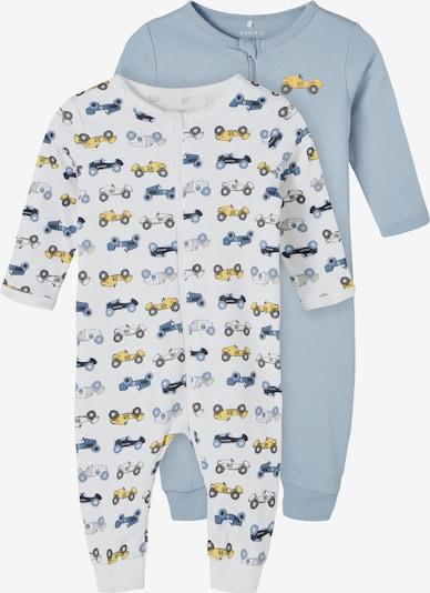 NAME IT Schlafanzug in navy / hellblau / gelb / weiß, Produktansicht