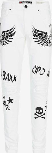 CIPO & BAXX Jeanshose 'Wings & Skulls' in weiß, Produktansicht