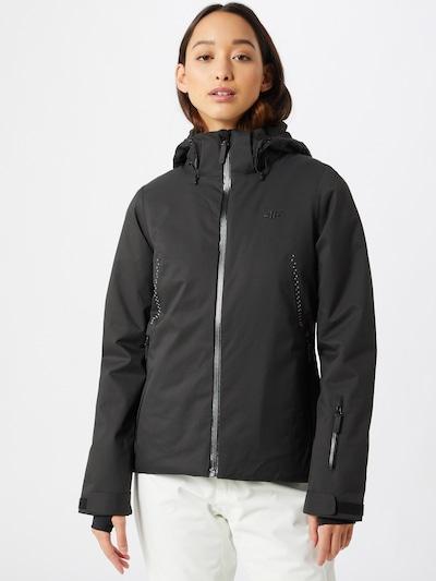 4F Skijacke in schwarz / weiß: Frontalansicht
