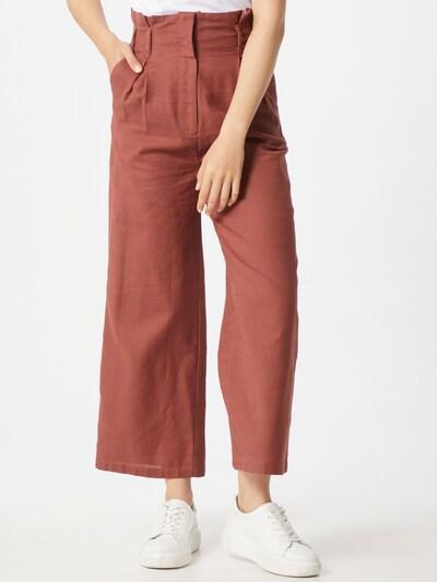 Pimkie Pantalon à plis 'Pantin' en rouille, Vue avec modèle