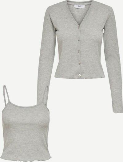 ONLY Top + Strickjacke in grau, Produktansicht