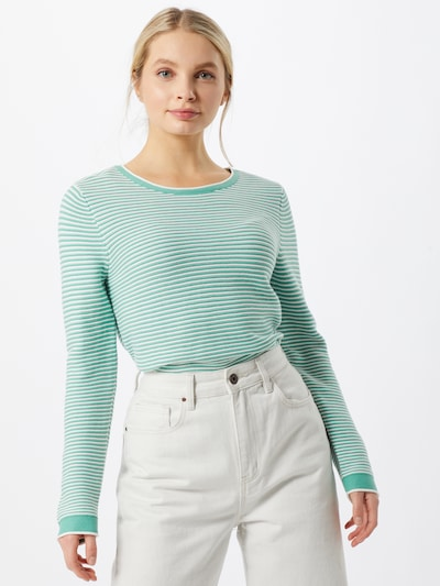 TOM TAILOR Sweater in Mint / White, View model