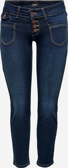 ONLY ONLEbba Ankle Button Straight Fit Jeans in blue denim, Produktansicht