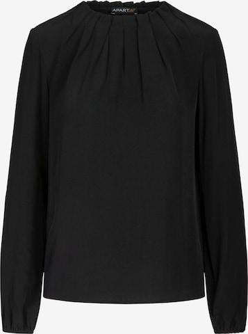 APART Bluse aus leicht körnigem Georgette in Schwarz