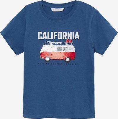 MANGO KIDS T-Shirt 'SEQUIN' in blau / rot / weiß, Produktansicht