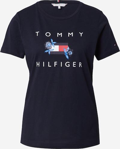 Tricou TOMMY HILFIGER pe albastru cer / albastru închis / roșu / alb, Vizualizare produs