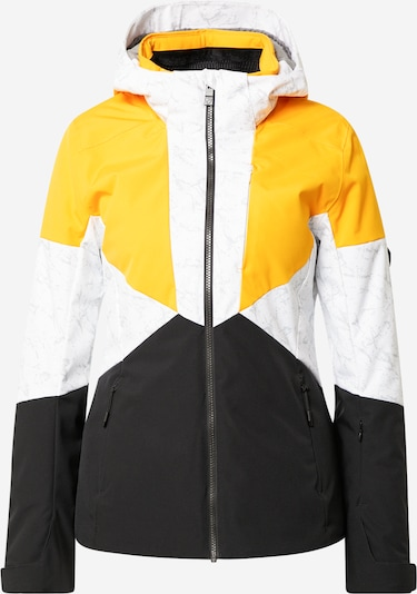 ZIENER Veste outdoor 'TANSY' en gris / orange / noir / blanc, Vue avec produit