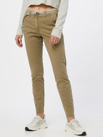 TOM TAILOR Chino-püksid, värv roheline