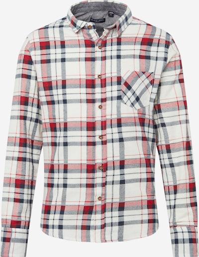 BRAVE SOUL Košile '69Rooker' - režná / námořnická modř / červená, Produkt