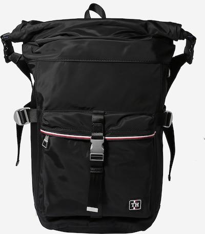 TOMMY HILFIGER Rucksack in rot / schwarz / weiß, Produktansicht