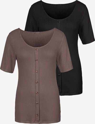 Tricou VIVANCE pe maro / negru, Vizualizare produs
